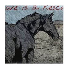 Love is a Rescue Tile Coaster