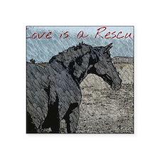 """Love is a Rescue Square Sticker 3"""" x 3"""""""