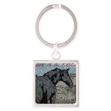 Love is a Rescue Square Keychain