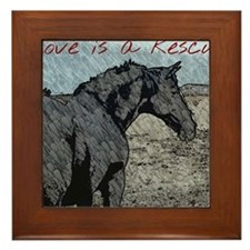 Love is a Rescue Framed Tile