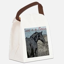 Love is a Rescue Canvas Lunch Bag