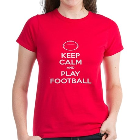 Keep Calm and Play Football - Ball 2 Women's Dark