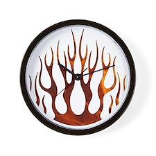 Tribal Flames Fire Wall Clock