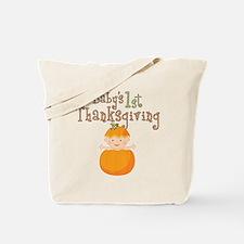 Babys 1st Thanksgiving Pumpkin Tote Bag