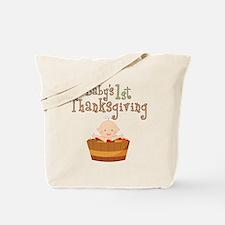 Babys 1st Thanksgiving Apples Tote Bag