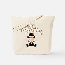 Babys 1st Thanksgiving Pilgrim Tote Bag