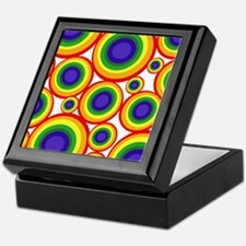 Retro Rainbow Polka Dots (2) Keepsake Box