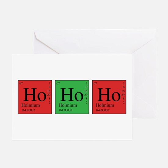 Chemistry Ho Ho Ho Greeting Card