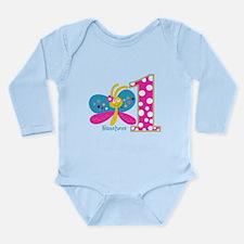 Butterfly First Birthday Long Sleeve Infant Bodysu