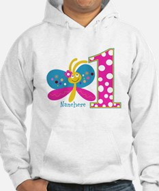 Butterfly First Birthday Jumper Hoody