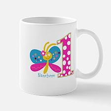 Butterfly First Birthday Mug