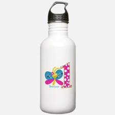 Butterfly First Birthday Water Bottle