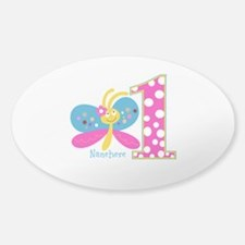 Butterfly First Birthday Decal