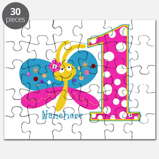 Butterfly First Birthday Puzzle