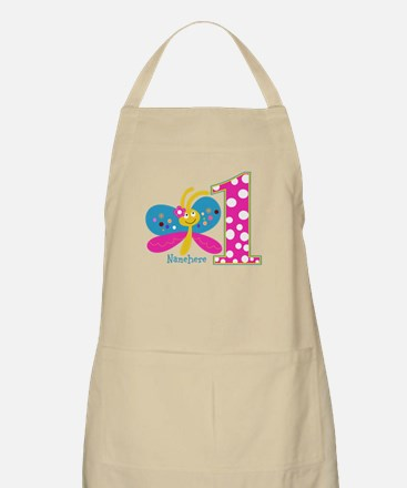 Butterfly First Birthday Apron