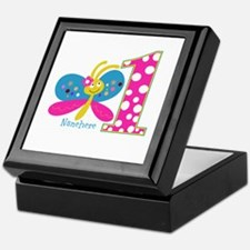 Butterfly First Birthday Keepsake Box