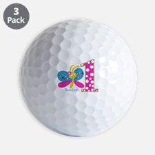 Butterfly First Birthday Golf Ball