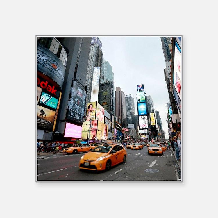 """Super! Times Square New Yor Square Sticker 3"""" x 3"""""""