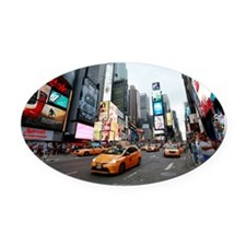 Super! Times Square New York - Pro Oval Car Magnet