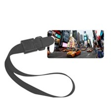 Super! Times Square New York - P Luggage Tag
