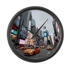 Super! Times Square New York - Pr Large Wall Clock