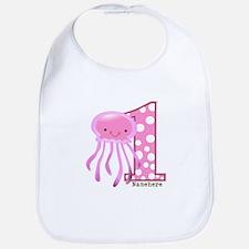 Pink Jelly Fish First Birthday Bib