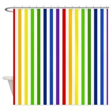 Retro Rainbow Stripes Shower Curtain