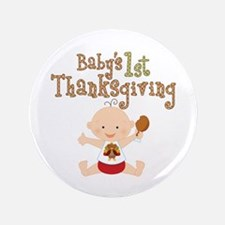 "Babys 1st Thanksgiving 3.5"" Button (100 pack)"