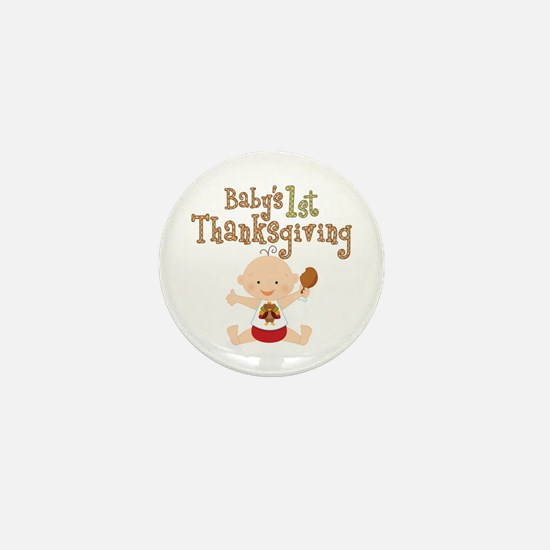 Babys 1st Thanksgiving Mini Button (10 pack)