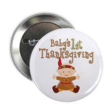 """Baby Indian 1st Thanksgiving 2.25"""" Button (10 pack"""