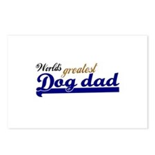 Worlds greatest Dog Dad Postcards (Package of 8)
