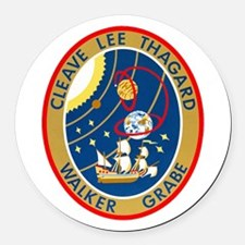 STS-30 Round Car Magnet