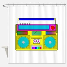 Funky Neon Radio Shower Curtain