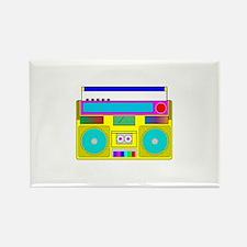 Funky Neon Radio Rectangle Magnet