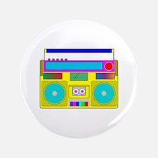 "Funky Neon Radio 3.5"" Button"