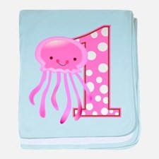 First Birthday Jellyfish baby blanket