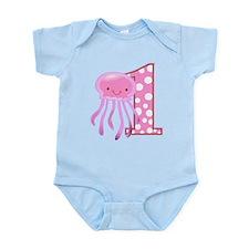 First Birthday Jellyfish Infant Bodysuit