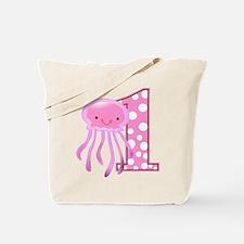First Birthday Jellyfish Tote Bag