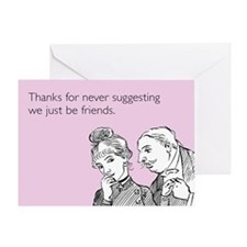 Just Be Friends Greeting Card