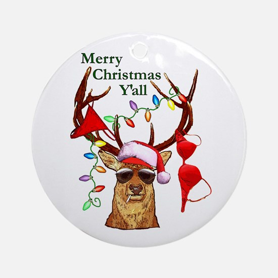 Christmas Bubba Deer Ornament (Round)