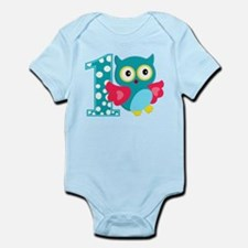 First Birthday Happy Owl Infant Bodysuit