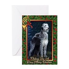 Irish Wolfhound Dog Christmas Greeting Card