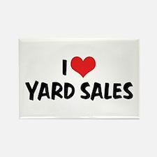 I Love Yard Sales Rectangle Magnet (10 pack)