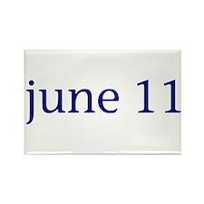 June 11 Rectangle Magnet