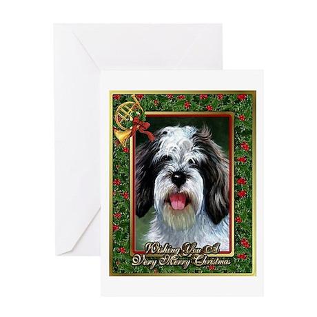 Petite Basset Griffon Vendeen Christmas Greeting C