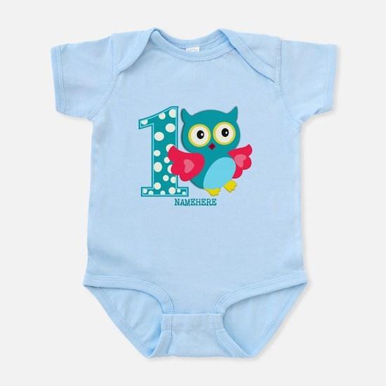 Cute First Birthday Owl Infant Bodysuit