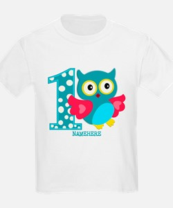 Cute First Birthday Owl T-Shirt