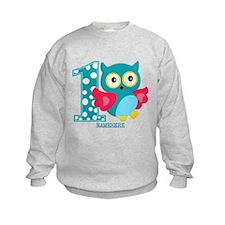 Cute First Birthday Owl Sweatshirt