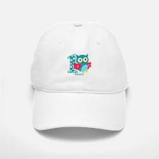 Cute First Birthday Owl Baseball Baseball Cap