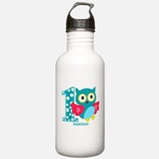 Cute First Birthday Owl Water Bottle